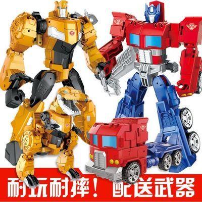 合金变形玩具金刚5电影版大黄蜂汽车机器人手动模型儿童男孩