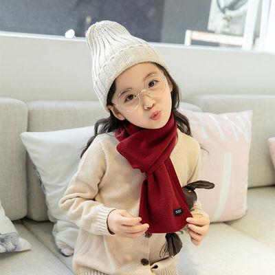儿童围巾冬季女童韩版小孩秋冬保暖毛线针织围脖潮男宝宝可爱围巾