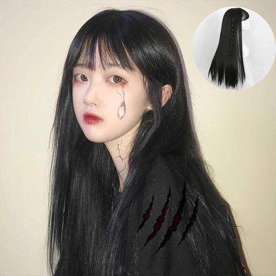 空气刘海假发女长卷发长直发隐形无痕全头大波浪学生长发网红可爱