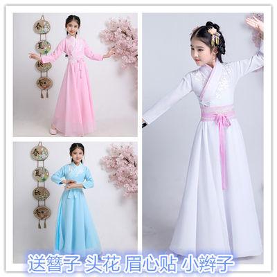 儿童汉服女古装仙女服小孩古代中国风公主侠女演出服摄影写真礼服