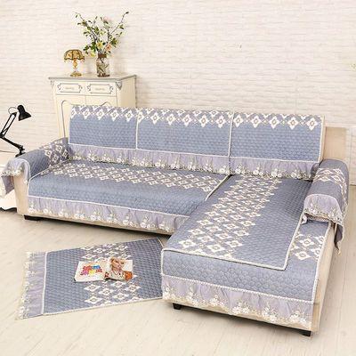 四季防滑沙发垫三件套夏天布艺沙发坐垫靠背巾罩欧式贵妃通用套装