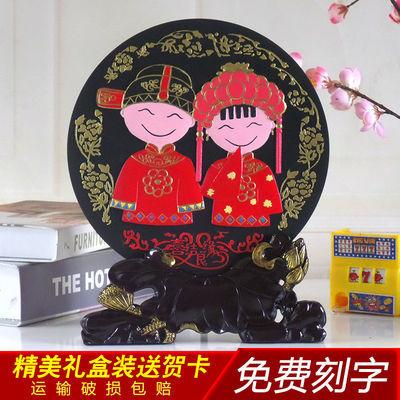 送朋友结婚礼物实用活性炭雕婚庆礼品闺蜜创意新婚房摆件订婚礼物
