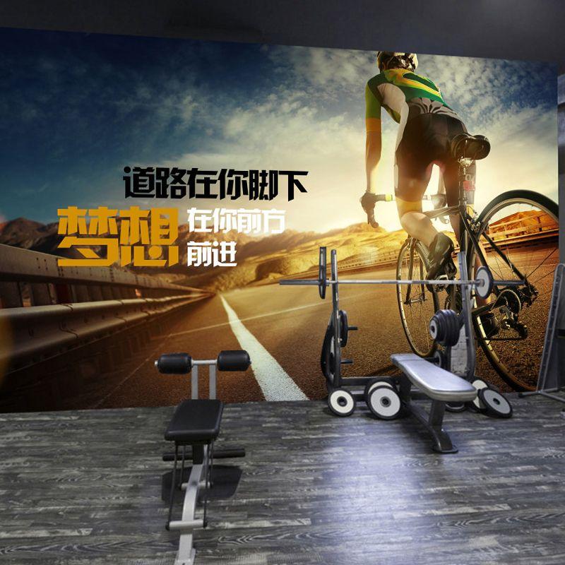 东南亚风格壁纸印度瑜伽馆背景墙壁画健身房工装墙纸墙布定制图片