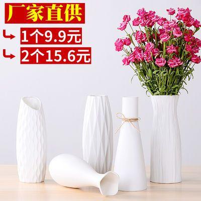 水培陶瓷花瓶家居装饰品客厅摆件 插干花 假花富贵竹玻璃花瓶摆件