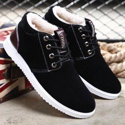 男鞋高帮保暖休闲韩版雪地靴学生上班鞋加绒加厚马丁靴加棉