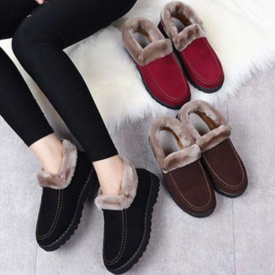 【送妈妈】老北京布鞋女士棉靴加厚防滑妈妈鞋中老年一脚蹬棉鞋