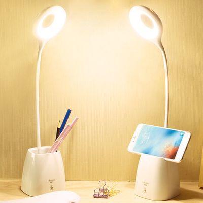 小学生儿童灯充电台灯卧室大学生创意实木美式乡村台灯卧室台灯护眼图片