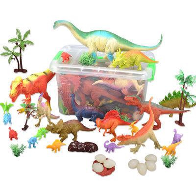 恐龙玩具侏罗纪恐龙蛋大号仿真霸王龙剑龙软胶模型儿童男孩玩具