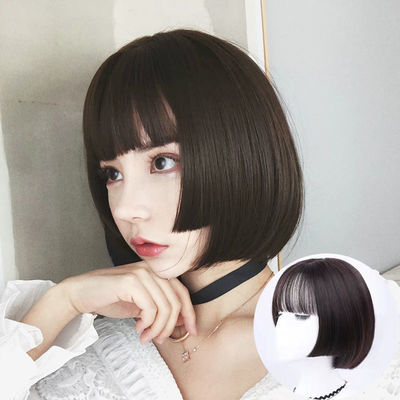 网红姬发式假发女短发bobo头空气刘海短直发公主切学生逼真梨花头