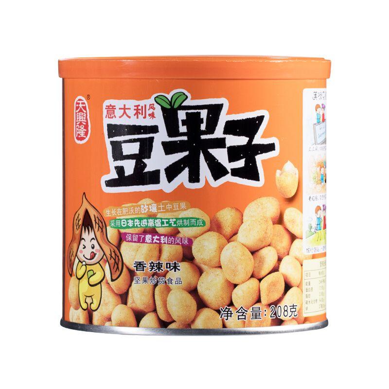 天兴隆综合果仁巴旦木花生炒货豆果子罐装208克