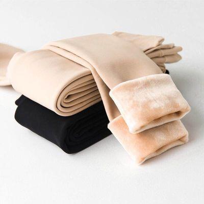 冬季新款加绒加厚保暖光腿神器