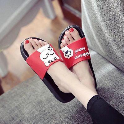 夏季拖鞋女室外穿夏天时尚凉拖鞋情侣室内可爱女士防滑厚底凉鞋新