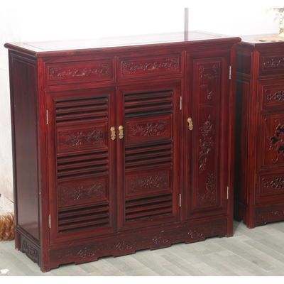 红木鞋柜 非洲酸枝木玄关柜餐边柜边柜 茶水柜 中式明清实木家具