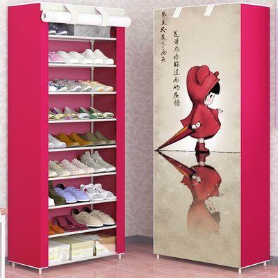 葛诺简易防尘带布罩收纳鞋柜5层6层10层DIY可自由拆装鞋柜鞋架
