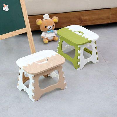加厚塑料折叠凳子便携式迷你户外成人儿童椅子板凳手提式火车马扎