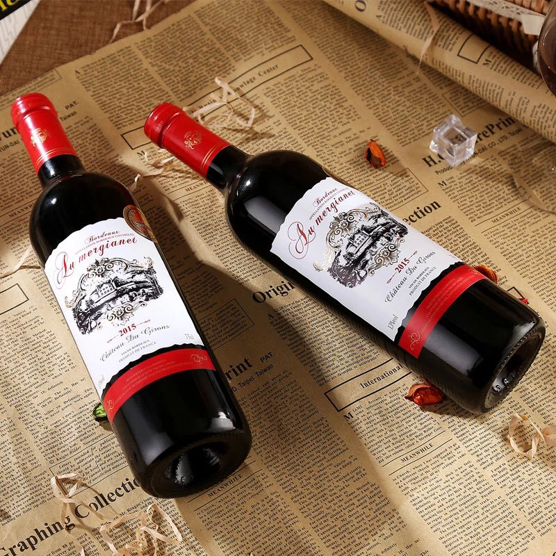 澳美佳莱法国原瓶进口红酒整箱波尔多AOC干红葡萄酒2支装6瓶整箱