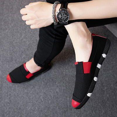 老北京布鞋男2021新款懒人潮鞋韩版鞋子休闲鞋男士帆布鞋豆豆男鞋