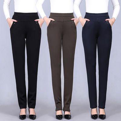 中老年妈妈裤子2021新款春秋老年人直筒宽松紧腰外穿中年女裤大码