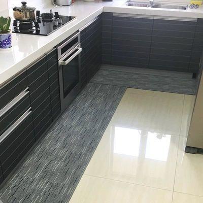厨房地垫吸水吸油防滑防油长条耐脏家用地毯满铺入户门脚垫可定制