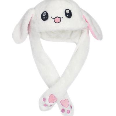 抖音一捏耳朵会动的帽子网红生日礼物快乐大本营同款儿童款兔子帽