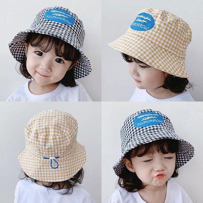 儿童渔夫帽春秋宝宝女童男童新款盆帽韩版潮休闲防晒遮阳太阳帽子