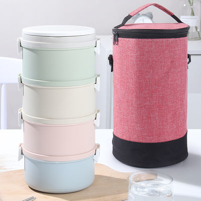 【送餐具】多层微波炉加热塑料饭盒上班族便当盒学生餐盒带盖便携