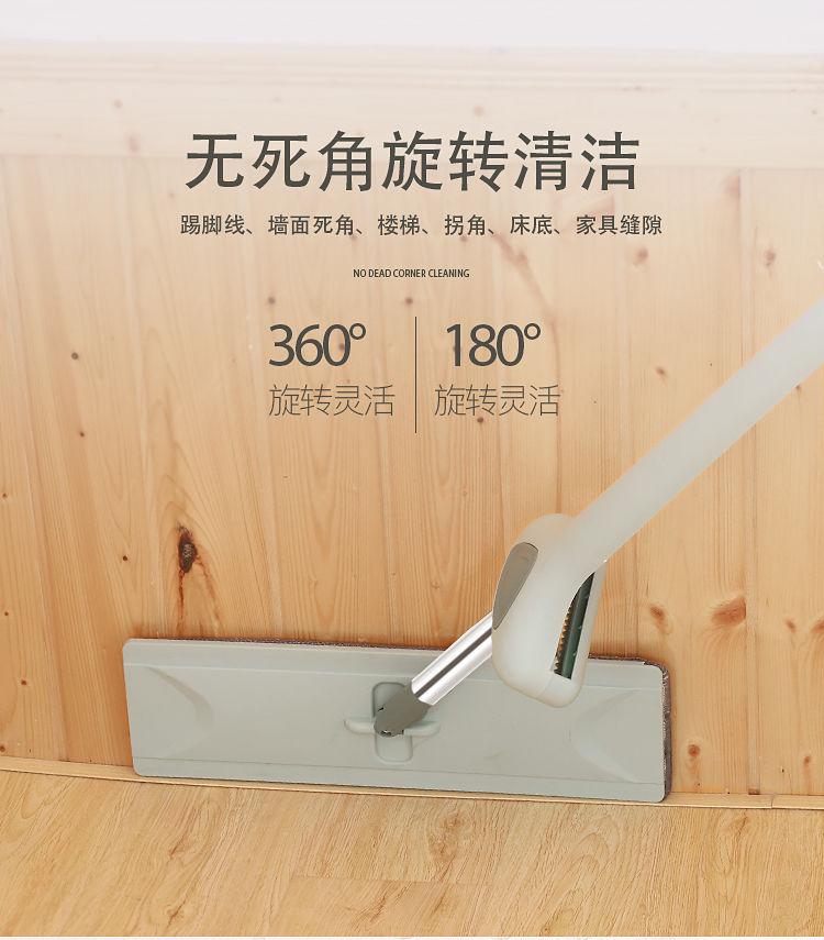 【逸净】免手洗平板拖把旋转家用拖地神器干湿两用懒人拖布墩布桶