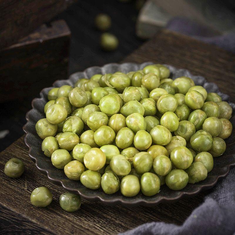 蟠龙美国青豆青豌豆5斤小包装散装蒜香芥末批发食品100g炒货零食