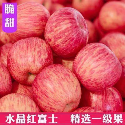 山东烟台栖霞红富士苹果水果新鲜带箱10净重9斤脆甜 当季特产整箱
