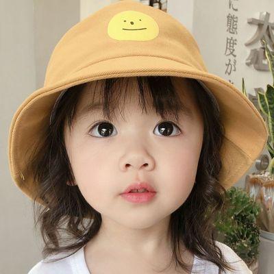 2020新款儿童帽子春秋韩版潮时尚女童双面渔夫帽男童盆帽遮阳防晒