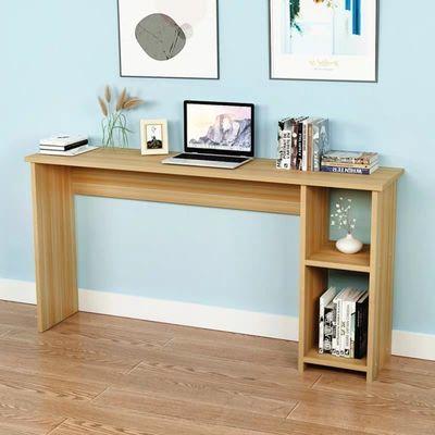 简约现代小户型书桌家用简易电脑桌侧旁带书架置物架写字桌写字台