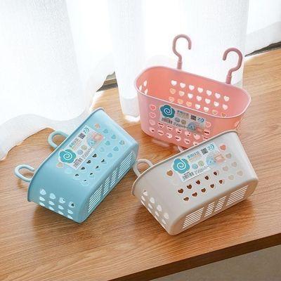 篮子塑料置物篮浴室洗漱收纳筐挂篮厨房调味品放置篮饰品篮子收纳