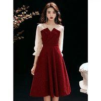 敬酒服酒红色孕妇结婚平时可穿新娘2021新款礼服裙遮肚子回门订婚