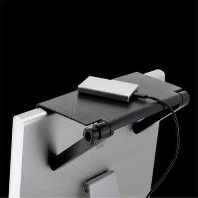 电视屏幕置物架 电脑显示屏办公桌挡板显示器后背挂式支架收纳架