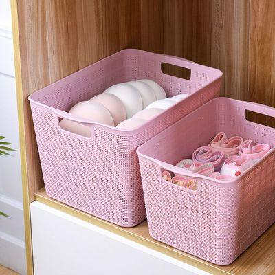 塑料收纳筐储物篮桌面收纳篮橱柜杂物零食置物篮浴室桌面收纳盒