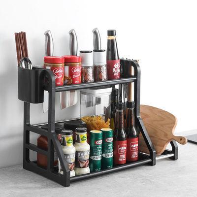 厨房置物架免打孔调料调味架收纳架刀架神器筷子刀具用品家用大全