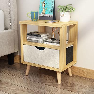 北欧床头柜卧室床边收纳柜现代简约置物架多层经济型储物柜小柜子