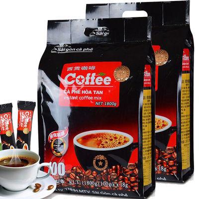 西贡咖啡1800g炭烧味越南原装进口原味三合一速溶咖啡粉100条