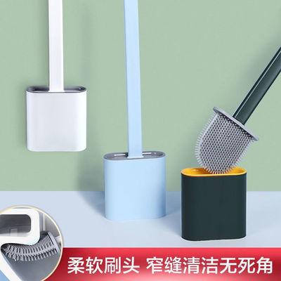 硅胶卫生间马桶刷家用无死角长柄软胶坐便清洁刷子洁厕刷底座套装