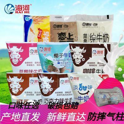 天津海河牛奶可可草莓巧克力苦咖啡麦香纯奶早餐网红多省包邮