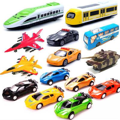 大号儿童回力玩具车小汽车惯性大巴车飞机战斗机坦克火车警车套装