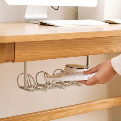 桌子底电源线插排置物架办公电脑桌下理线器拖线板隔层挂篮收纳架