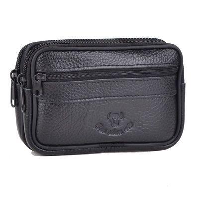 加厚牛皮手机包男腰包穿皮带挂腰5-7.2寸智能手机老年钱包零钱袋
