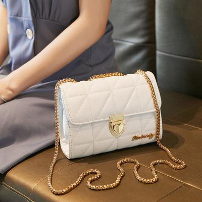 包包女2021新款菱格链条女包单肩包百搭斜挎小方包包洋气锁扣潮包