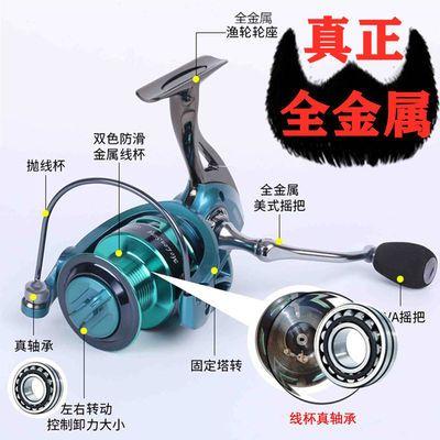 无间隙海杆轮纺车轮鱼轮全金属渔轮路亚轮不锈钢海竿轮特价鱼线轮