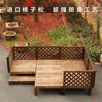 户外防腐木地板平台碳化木花园露台休闲平台婚庆移动舞台榻榻米