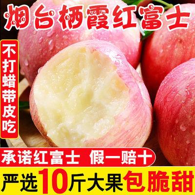 山东烟台栖霞红富士苹果脆甜新鲜水果应季批发3斤5斤10斤爆甜多汁