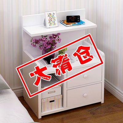 床头柜简约卧室经济小户型小柜子多功能仿实木置物架床边柜储物柜