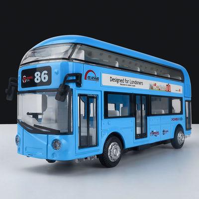 【断色清仓】巴士合金车模仿真公交车儿童玩具车男孩汽车模型摆件