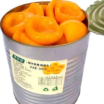 普通大桶大片6斤装口感软硬适中爽滑的糖水黄桃罐头